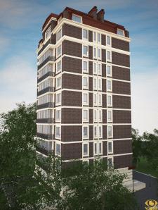 Визуализация экстерьера 10 этажного дома 5